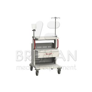 Выдвижной ящик с замком, высота 150 мм  для медицинской стойки