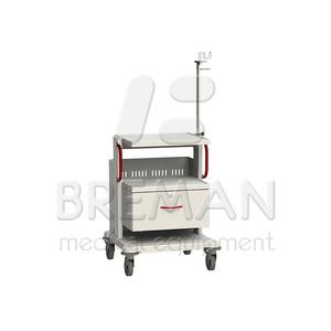 Выдвижной ящик с замком, высота 300 мм для медицинской стойки