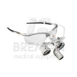Лупа офтальмологическая бинокулярная HRP 4х, рабочее расстояние 340 мм, базовый состав с принадлежностями