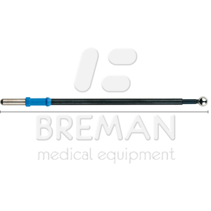 Электрод-шарик, прямой, диам. 6 мм, L=122 мм, с изолированным стержнем, коннектор 4 мм