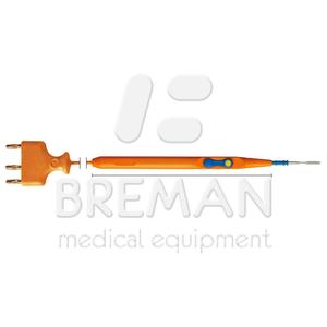 ВЧ-инструмент одноразового пользования с электродом-ножом, с клавишной активацией, коннектор 2,4 мм, трёх-пиновый штекер, кабель L=3 м, в стерильной упаковке, Уп=50 шт.
